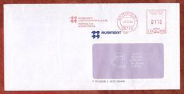 Brief, Hasler C58-608G, Ausimont, 110 Pfg, Bitterfeld 1998 (73324) - Poststempel - Freistempel
