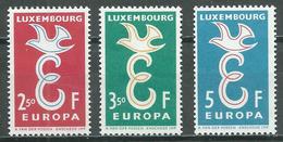 Luxembourg YT N°548/550 Europa 1958 Neuf ** - Ungebraucht