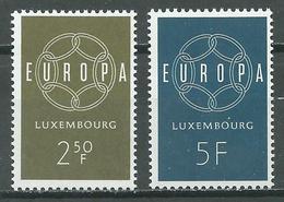 Luxembourg YT N°567/568 Europa 1959 Neuf ** - Luxemburg