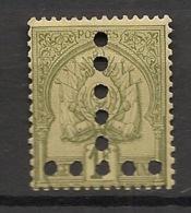 Tunisie - 1888-1898 - Taxe TT N°Yv. 20 - Armoiries 1f Olive - T Vers Le Bas - Neuf * / MH VF - Tunesien (1888-1955)