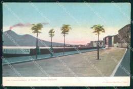 Napoli Castellammare Di Stabia Corso Garibaldi Vesuvio Cartolina MX5567 - Castellammare Di Stabia
