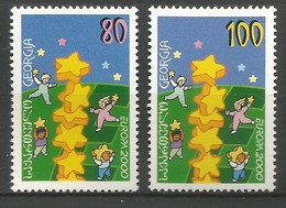 Georgien  2000  Mi.Nr. 330 / 331 , EUROPA CEPT - Kinder Bauen Sternenturm - Postfrisch / MNH / (**) - Europa-CEPT