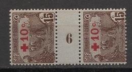 Tunisie - 1916 - N°Yv. 50 - Laboureurs 10c Sur 15c - Paire Millésimée 6 - Neuf  Luxe ** / MNH / Postfrisch - Neufs