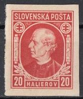 Slovacchia 1939 Sc. 28 Imperf. Presbitero Sacerdote Andrej Hlinka (1864-1938) Nuovo Slovenska Posta - Nuovi