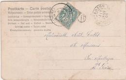 CPA 1904 / Cachet De Cendrey 25 Doubs + Montbozon 70 + Boïte Rurale - Marcophilie (Lettres)