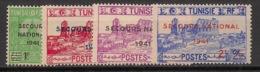 Tunisie - 1941 - N°Yv. 227 à 230 - Secours National - Neuf  Luxe ** / MNH / Postfrisch - Tunisie (1888-1955)