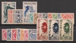 Tunisie - 1950 - Année Complète Du N°Yv. 334 Au 348- 22v - Neuf Luxe ** / MNH / Postfrisch - Tunisie (1888-1955)