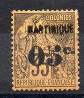 MARTINIQUE - YT N° 13 - Neuf * - MH - Cote: 25,00 € - Martinique (1886-1947)