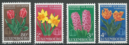 Luxembourg YT N°490/493 Floralies De Mondorf Les Bains Neuf ** - Ungebraucht