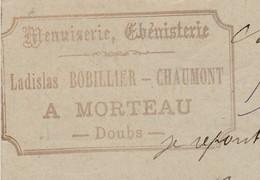 Carte Commerciale 1898 / Menuiserie Ladislas BOBILLIER CHAUMONT / 25 Morteau Doubs - Maps