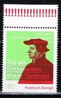 Bund 2019, Michel# 3464 ** Huldrych Zwingli - %00 Jahre Zürcher Und Oberdeutsche Reformation - [7] Federal Republic