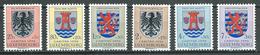 Luxembourg YT N°520/525 Caritas 1956 Blasons Neuf ** - Ungebraucht