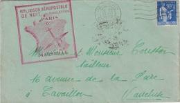 PARIS - 80 - RUE LUPIN - TYPE PAIX - 1ere LIAISON AEROPOSTALE DE NUIT PARIS MARSEILLE LE 25 JUILLET 1939. - Luchtpost