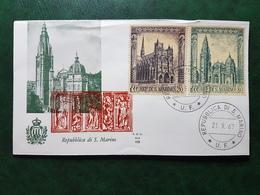 (36377) F.D.C. SAN MARINO  1967 - FDC