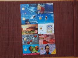 Nice Lot 10 Phonecards Belgium Used - Belgique