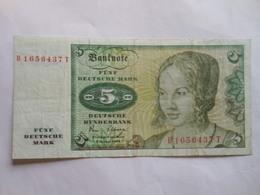 Deutschland 5 Mark 1980, Ro-285a, Gebr - 5 Deutsche Mark