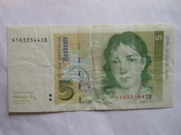 Deutschland 5 Mark 1991, Ro-296a, Gebr - 5 Deutsche Mark