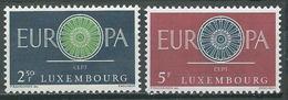 Luxembourg YT N°587/588 Europa 1960 Neuf ** - Luxemburg