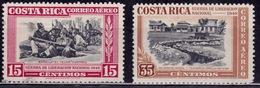Costa Rica 1950, Airmail, 15c/35c, Sc#189/192, Used - Costa Rica
