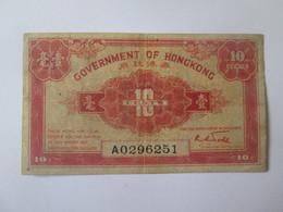 Hong Kong 10 Cents 1941 Banknote - Hong Kong