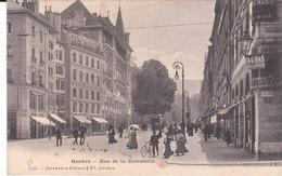 CPA GENEVE (SUISSE) RUE DE LA CORRATERIE - ANIMEE - GE Genève