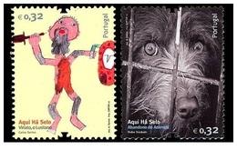 Portugal 2010 - Aqui Ha Selo Stamp Set Mnh - 1910-... República