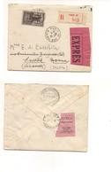 2916) FRANCIA RACCOMANDATA ESPRESSO 1940 10fr Isolato X Italia Raro Uso - Francia
