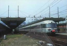 562 Treno SBB RABe 1051 Stazione Di Arona Railroad Train Railways Treni Steam Chemin De Fer FS - Treni