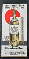 MARQUE PAGE PUBLICITE DELPERRER FRERES BERGERAC MONBAZILLAC VINS VIN PUBLICITE ILLUSTREE ALCOOL AVEC MEILLEURS ANNEES - Alcolici