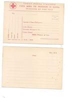 2932) CROCE ROSSA ITALIANA PRIGIONIERI GUERRA WW2 POW Cartolina Franchigia Nuova - 1900-44 Vittorio Emanuele III