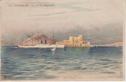 """CPA Illustrateur Lessieux - Marseille - Le """"Tourane"""" En Vue De Marseille - Lessieux"""