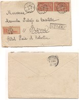 2944) FRANCIA 1917  Registered Expres COVER 40cx2 To Italy Paris - Francia