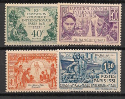 Oubangui - 1931 - N°Yv. 84 à 87 - Exposition Coloniale - Série Complète - Neuf * / MH VF - Oubangui (1915-1936)