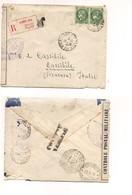 2948) FRANCIA 1940 Registered Cover 2,50frx2 To Italy Censura Militare - Francia