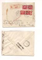 2949) FRANCIA 1940 Registered Cover 2frx2 50cx2 To Italy Censura Militare - Francia
