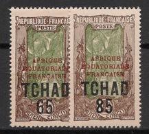 Tchad - 1925 - N°Yv. 45 à 46 - Série Complète - Neuf * / MH VF - Ongebruikt
