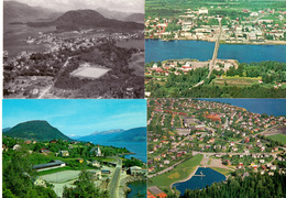 13 Postcards With Small Stadiums In Norway Norge Panoramic Views - Sports Fields In Little Image - Petites Stade Stadium - Football