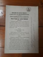 1896 - ARGENTA - BANDO VENALE PER VENDITA GIUDIZIALE SU CARTA BOLLATA- Ferrara - Vecchi Documenti
