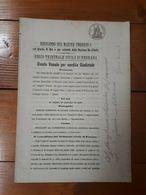 1896 - ARGENTA - BANDO VENALE PER VENDITA GIUDIZIALE SU CARTA BOLLATA- Ferrara - Documentos Antiguos