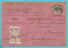 144 Op Carte-Recepisse / Ontvangkaart Met Stempel WILRYCK - 1915-1920 Albert I