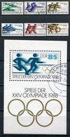 DDR Michel-Nr. 3183-3188 + Block 94 Gestempelt - Usati