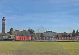 567 Treno Locomotiva Badoni 245.2124 Levate Bergamo Railroad Train Railways FS - Treni