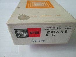 Photographic Paper, Old-unused, EMAKS Produced FOTOKEMIKA, ZAGREB, 6,5 X 9cm, White, Shiny - Zubehör & Material