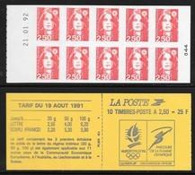Carnet 2720-C1 Daté 21.01.92 Marianne De Briat 2,50 Rouge - Carnets