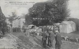 Janaillat La Rue Principale Et La Place Un Jour De Fête - Autres Communes