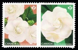Canada (Scott No.3171a -  Gardenia) [**] Die Cut To Shape NOTE  Pair - 1952-.... Regering Van Elizabeth II