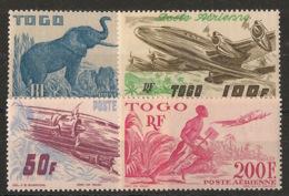 Togo - 1947 - Poste Aérienne PA N°Yv. 17 à 20 - Série Complète  - Neuf * / MH VF - Neufs