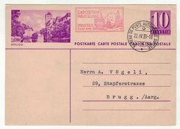 Suisse //Schweiz//Svizzera// Switzerland // Entier Postaux // Entier Postal (Image Brugg) BPA  Moutier 22.04.1939 - Postwaardestukken