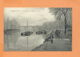 CPA - MORET L'Hiver - Le Loing Vers Le Viaduc - Péniche Péniches - Moret Sur Loing