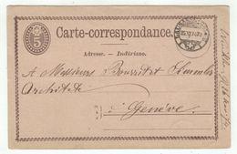 Suisse //Schweiz//Svizzera// Switzerland // Entier Postaux // Entier Postal  Au Départ De Lausanne Le 25.11.1874 - Ganzsachen